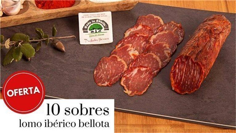 Promoción 10 sobres de 100gr lomo ibérico de bellota