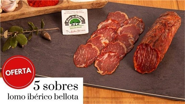 Promotion 5 packets of 100gr Iberian loin of acorn-fed pigs