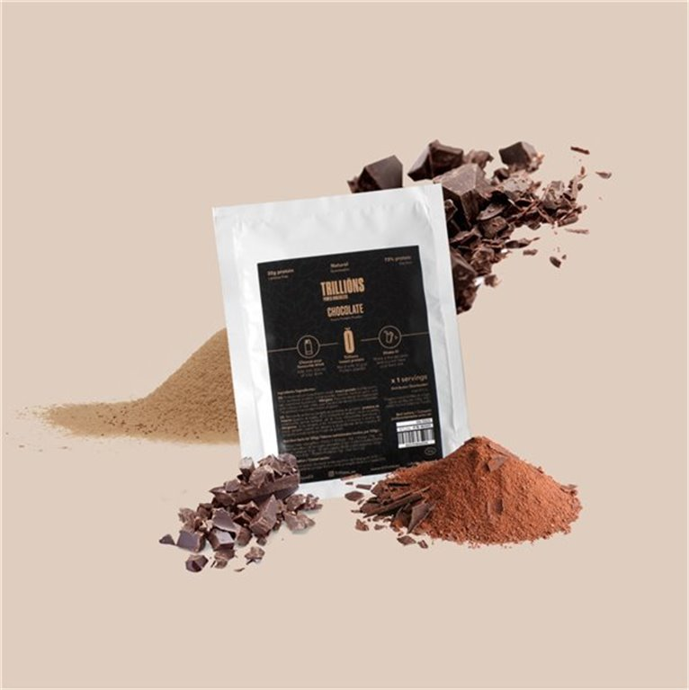 Protein powder with insect protein chocolate flavour 15 single-dose sachets