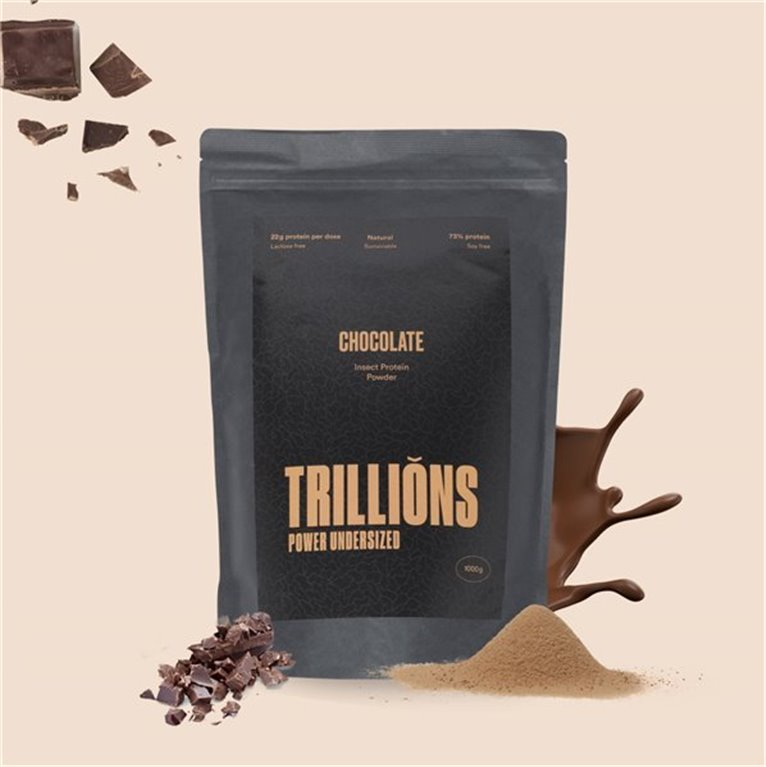 Protein powder with insect protein chocolate flavour 1kg