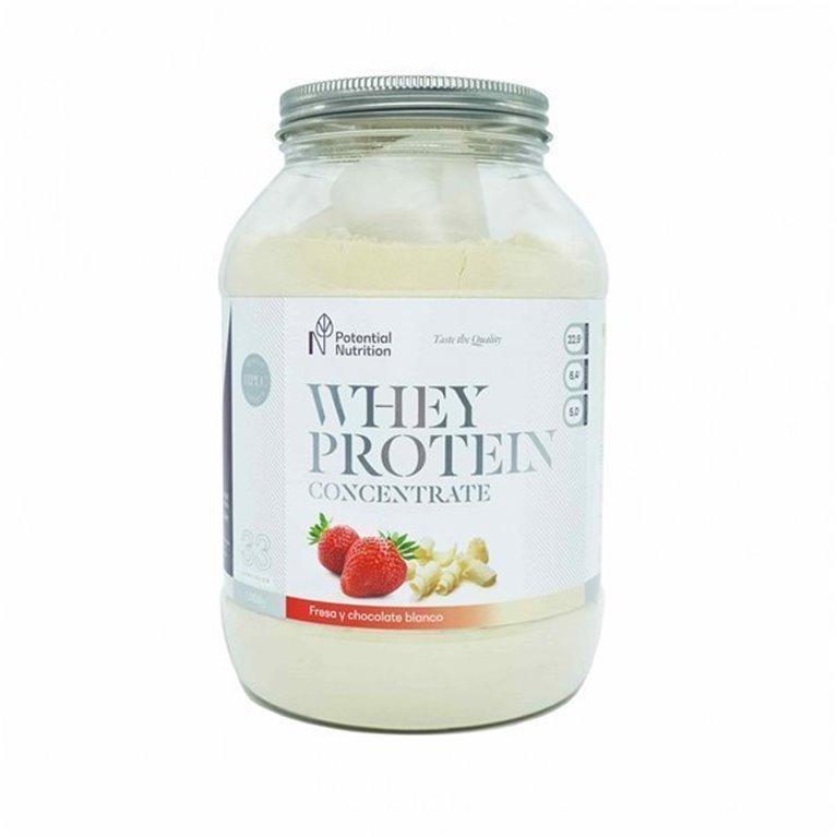 Proteina Whey Premium – Sabor Chocolate Blanco y Fresa – 1kg