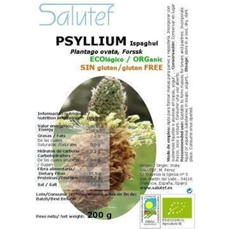 Psyllium (Plantago Ovata) Bio 200g