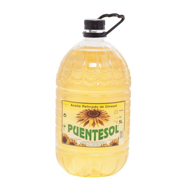 PUENTESOL Sunflower Refined Sunflower 5 L PET