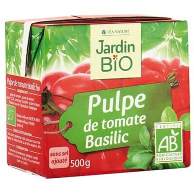 Pulpa de tomate a la albahaca, 500 gr