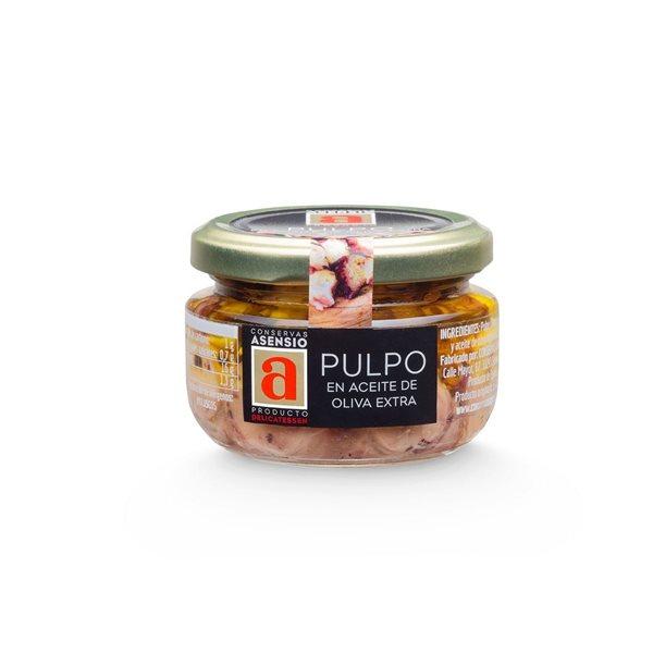 Pulpo en Aceite de oliva virgen extra Frasco 100 g