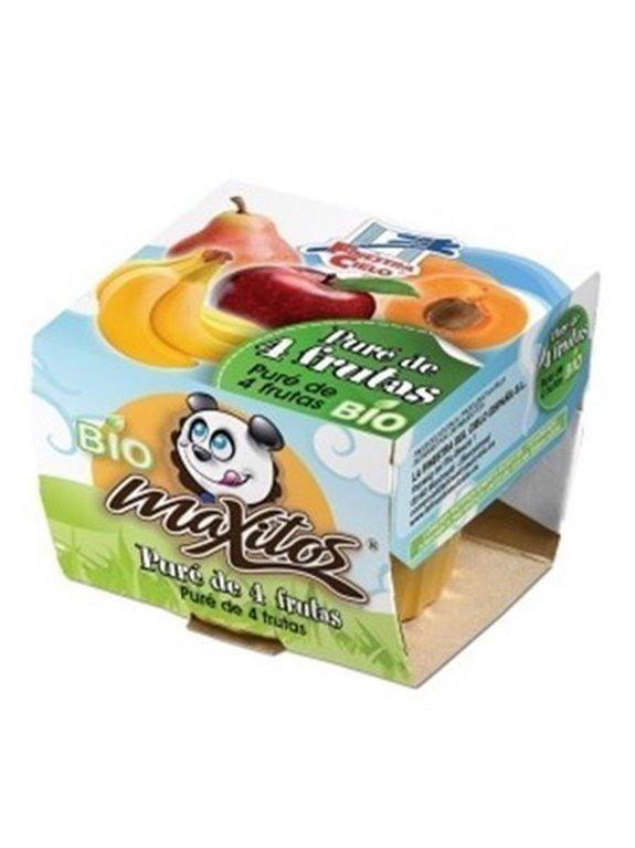 Puré de 4 frutas, 200 gr