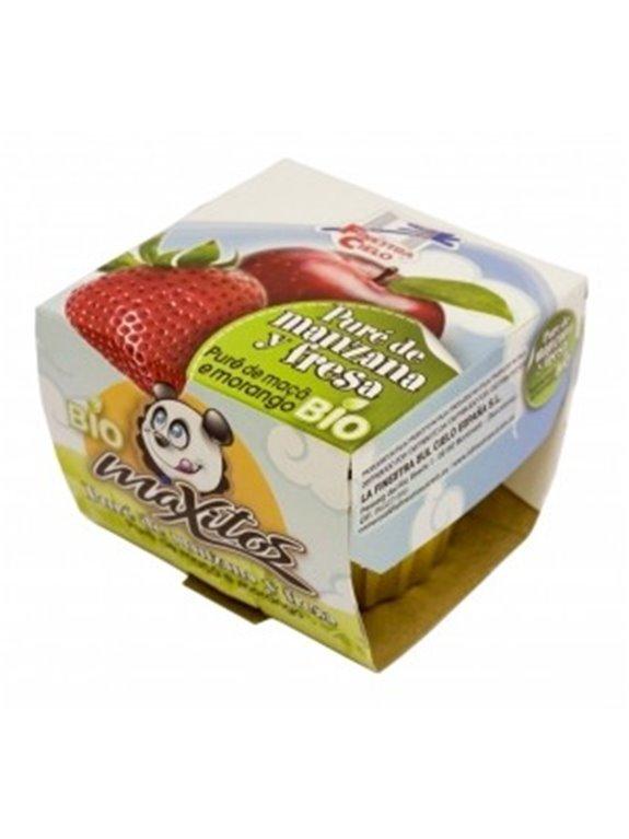 Puré de manzana y fresa Maxitos, 200 gr