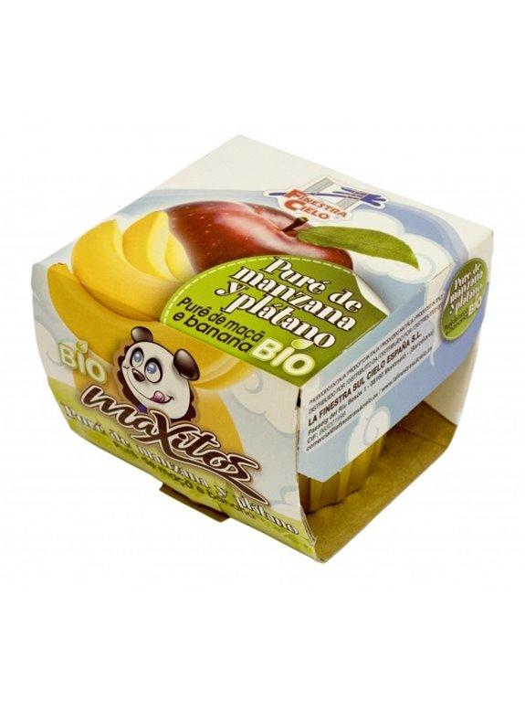 Puré de manzana y plátano Maxitos, 200 gr