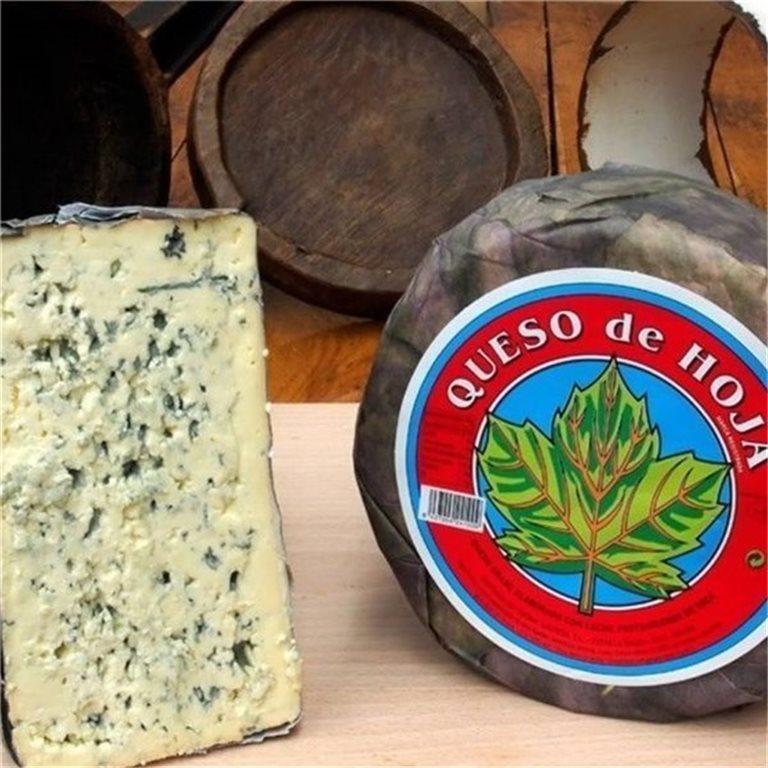 """Queso Azul con hojas """"La Fueya"""", 400 gr"""