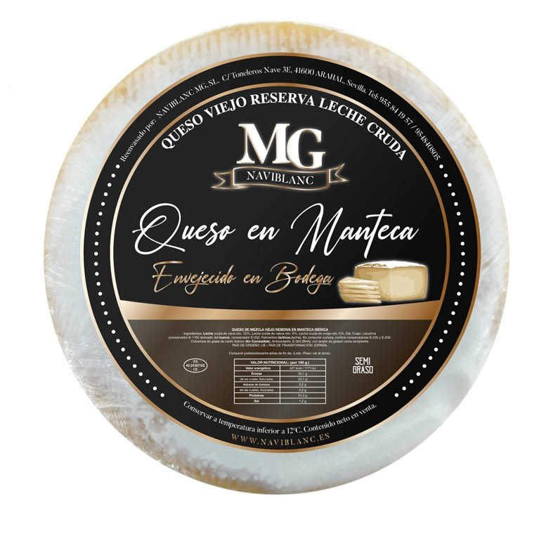 CHEESE CURED IN BUTTER AGED IN CELLAR MG