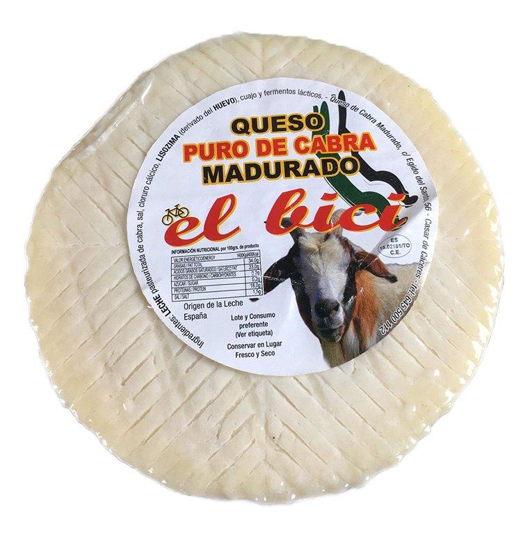 """Queso De Cabra Madurado """"El Bici"""", 600 gr"""