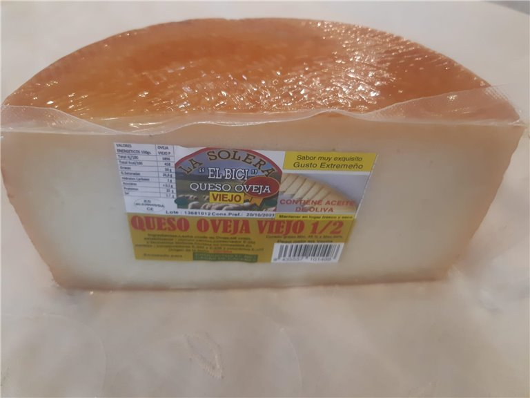 Queso De Oveja Solera Viejo, 1,60 kg