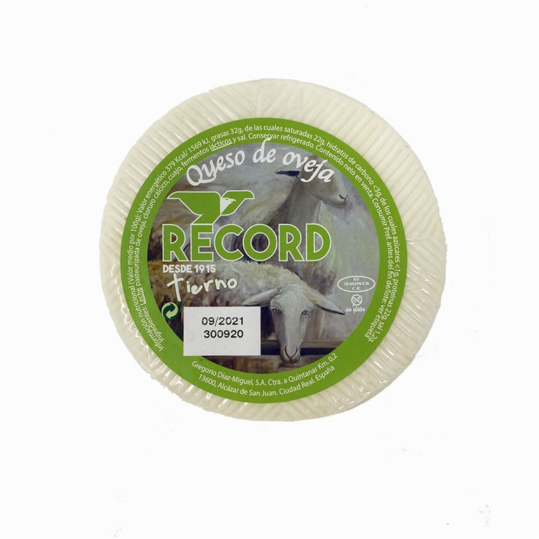 Queso de oveja tierno Record 1 Kg