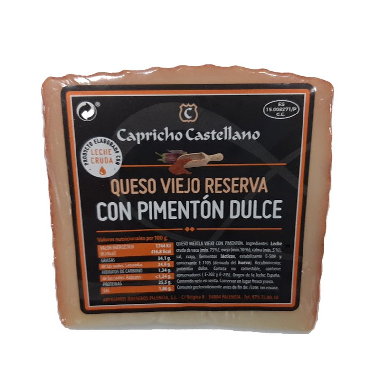 Old Reserve Sheep Cheese with Paprika 1/8 (400g Approx.)