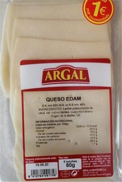 Queso edam Argal
