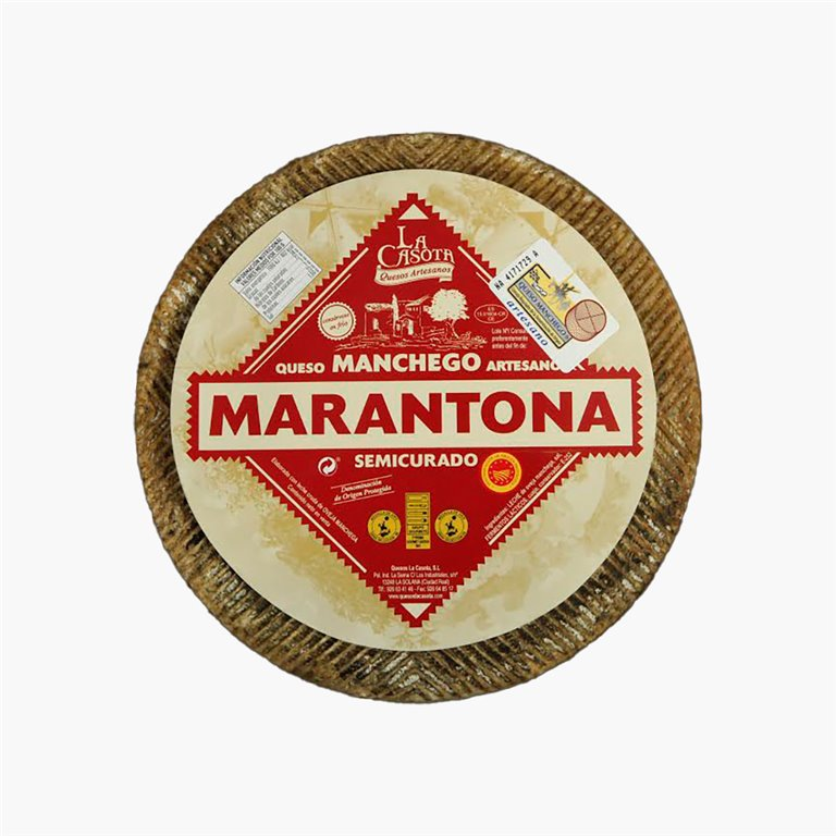 Queso manchego semicurado 3.2 a 3.4 kg Marantona