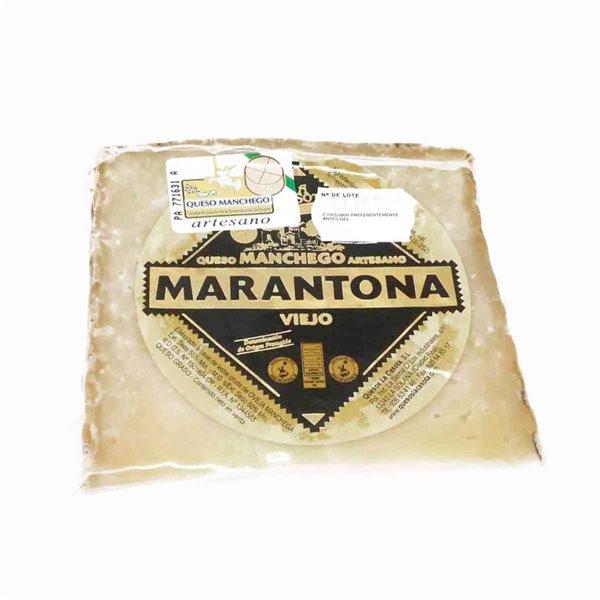 Queso manchego viejo cuña 250 g Marantona