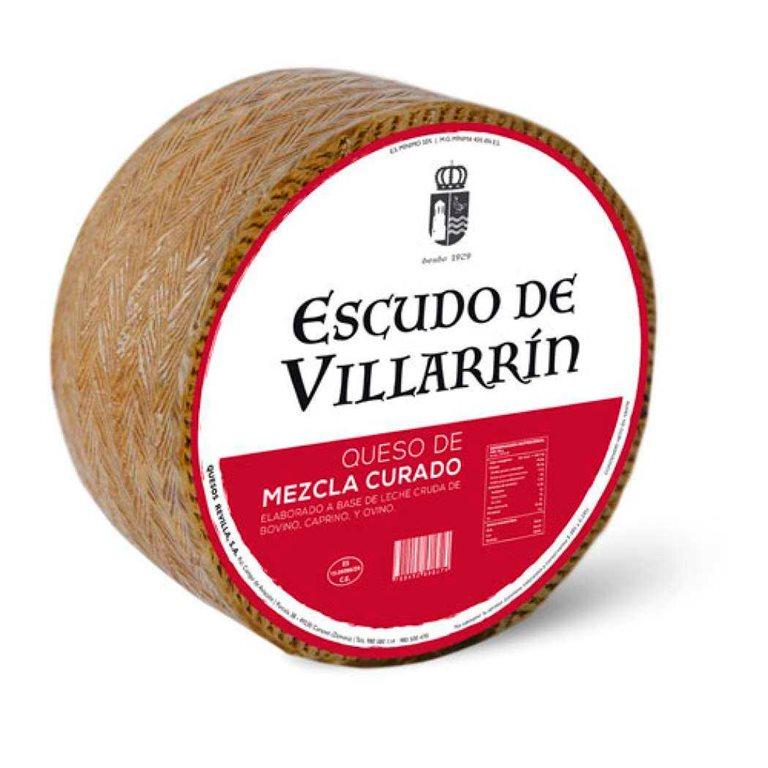 Cheese Mz Cured Raw Milk Cheese Escudo de Villarrín 3kg