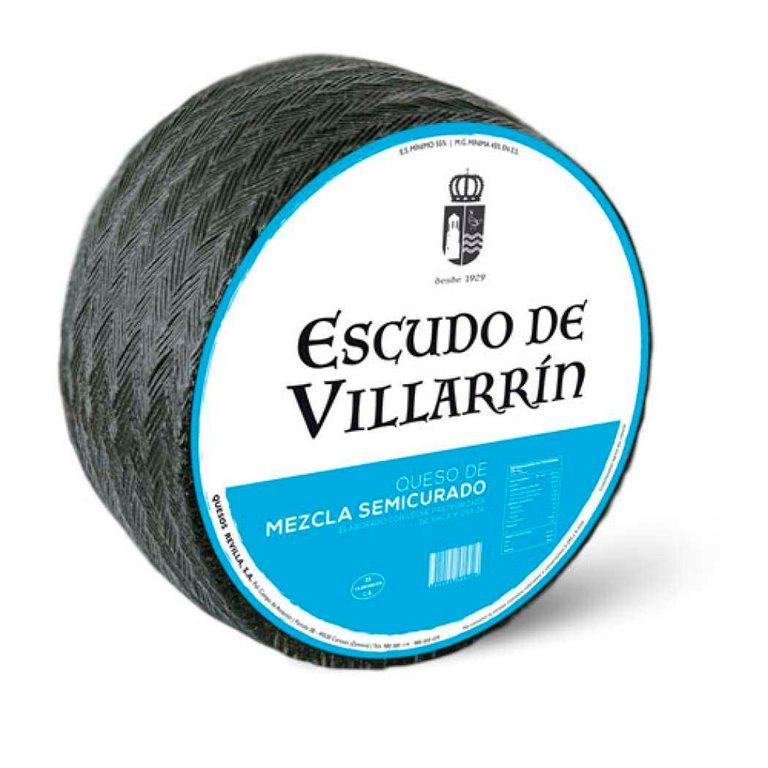 Cheese Mz Semicured Pasteurized Milk Escudo de Villarrín 3kg