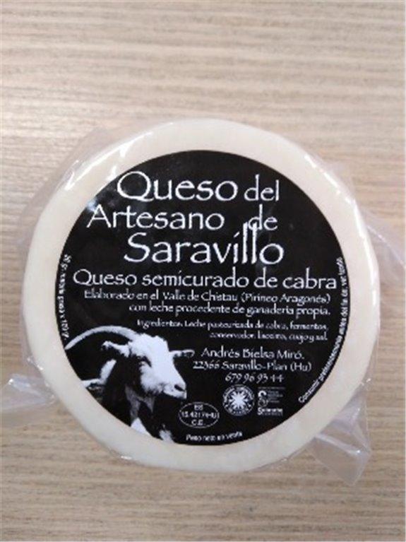 Queso Saravillo Cabra Semicurado, 1 ud