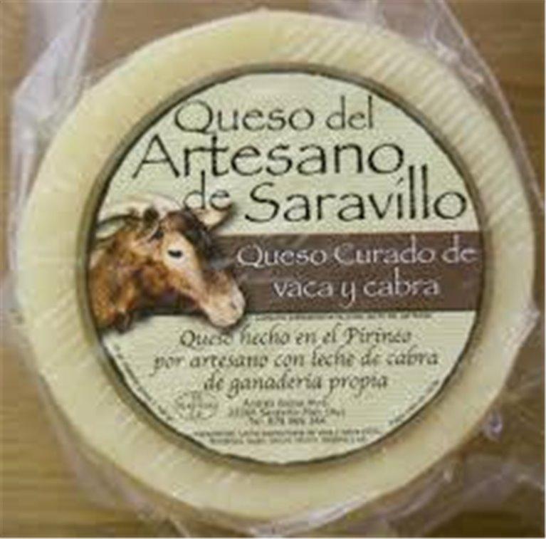 Queso Saravillo Vaca-Cabra Curado, 1 ud