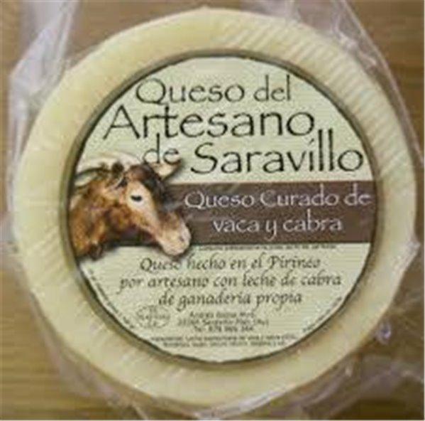 Queso Saravillo Vaca-Cabra Curado
