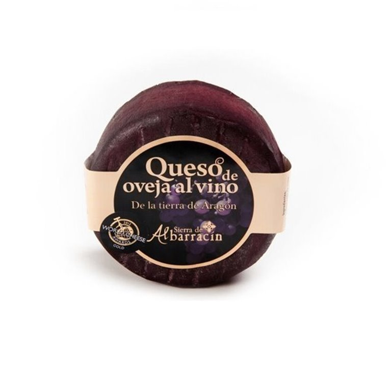 Queso semicurado al vino tinto