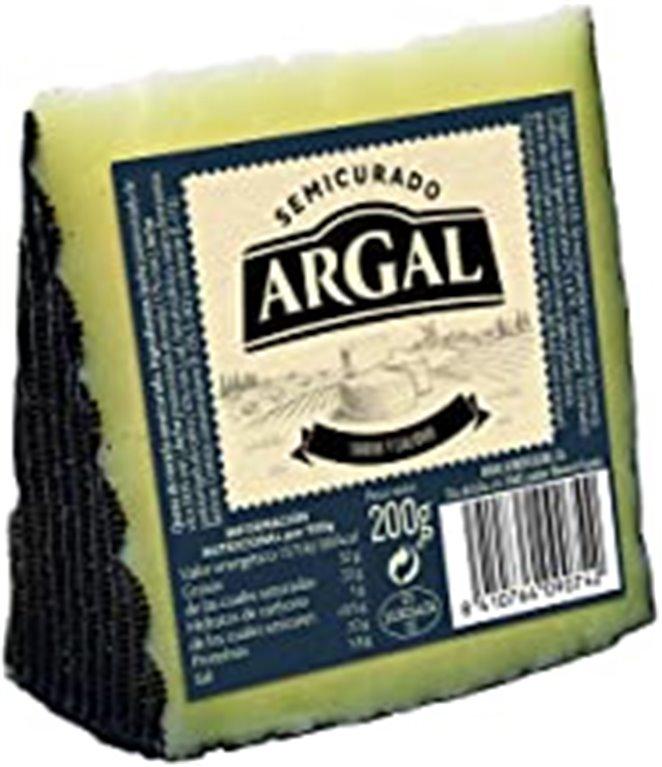 Queso semicurado Argal, cuña 200 gr.