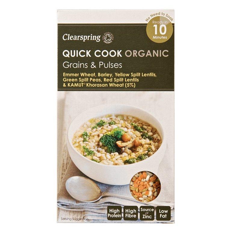 Quick Cook Cereales y Legumbres 250gr. Clearspring. 5un., 1 ud