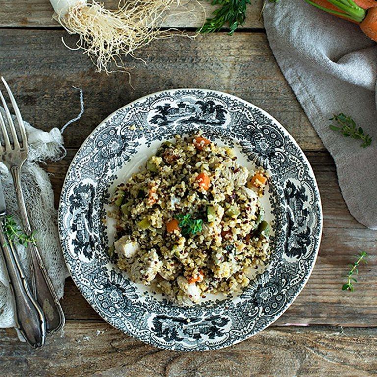 Quinoa con pollo y hortalizas - 350 g.