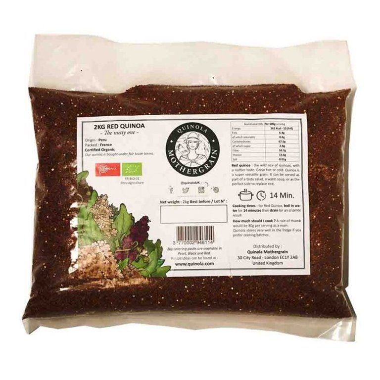 Quinoa Roja Bio Granel 2kg. Quinola. 3un, 1 ud