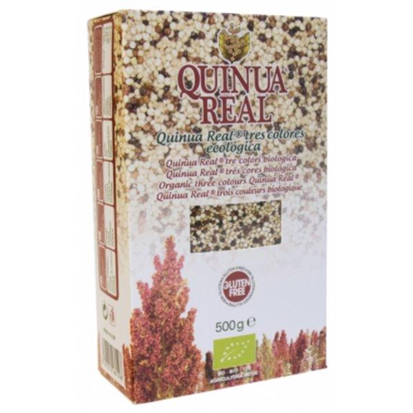 Grano de Quinoa Real Tricolor Bio Fairtrade 500g