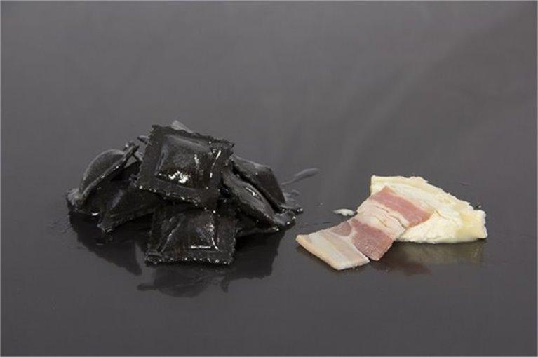Raviolis de beicon y queso de cabra (4 rac.)