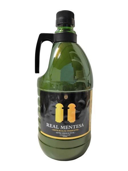 Real Mentesa en rama. Aceite de oliva virgen extra. Garrafa PET 2 Litros.
