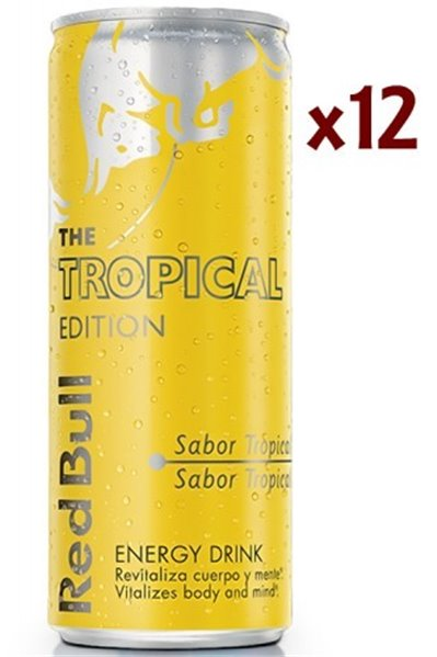 Red Bull Tropical Edition Caja 12Uds