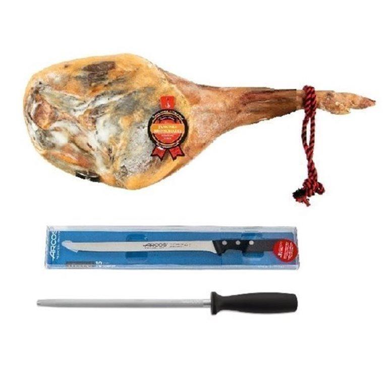 """Regalo gourmet """"Jamón+cuchillo+chaira"""""""