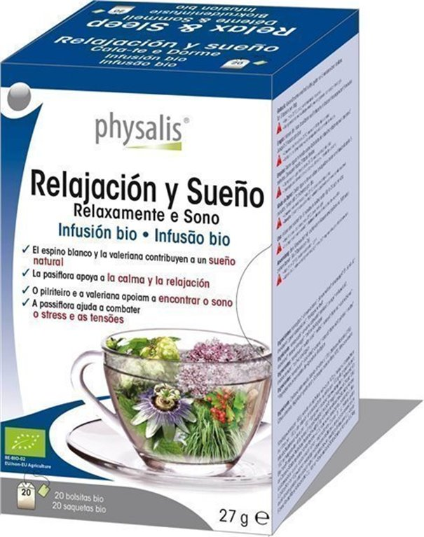 Relajación y sueño  infusión bio, 30 gr