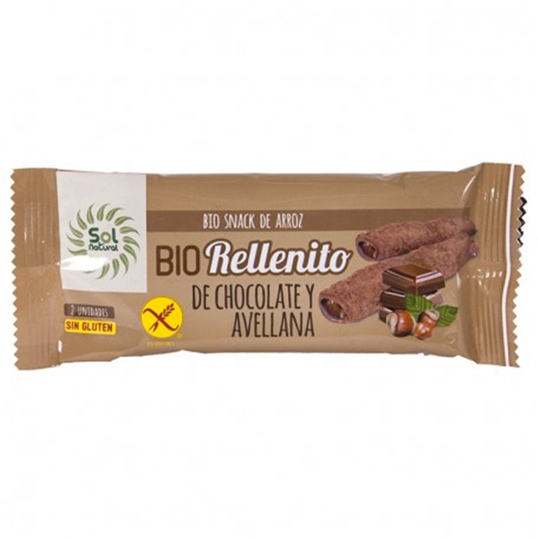 Rellenito de chocolate y avellana sin gluten 25g