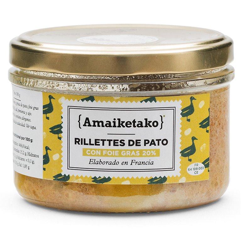 Rillettes con foie gras (20%), 1 ud