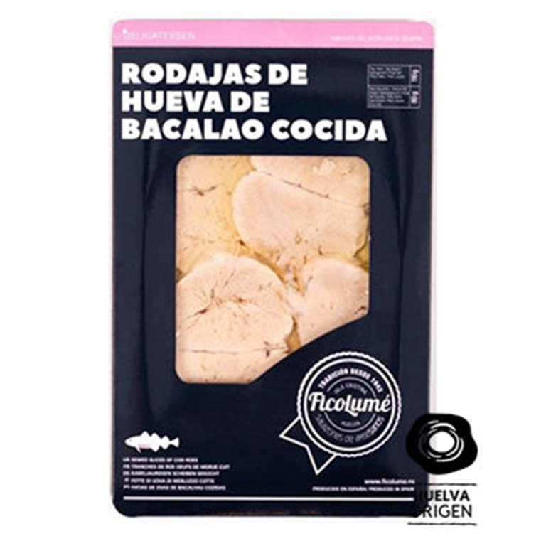 Cooked Cod Roe Slices