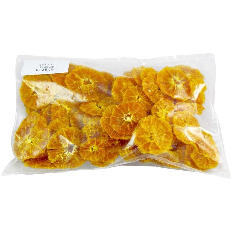 Rodajas de Naranja pelada deshidratada - DE PRIMERA CALIDAD - 250gr bolsa familiar, 1 ud