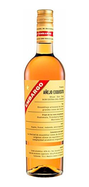 Ron Embargo Dorado Exquisito Añejo