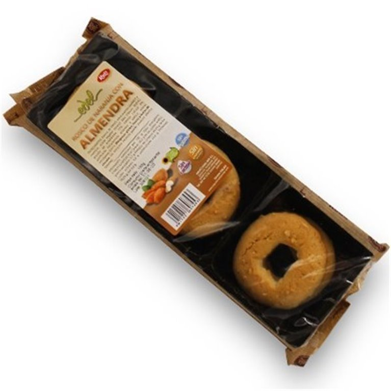 Roscos de naranja con almendras sin azucar 150 gr