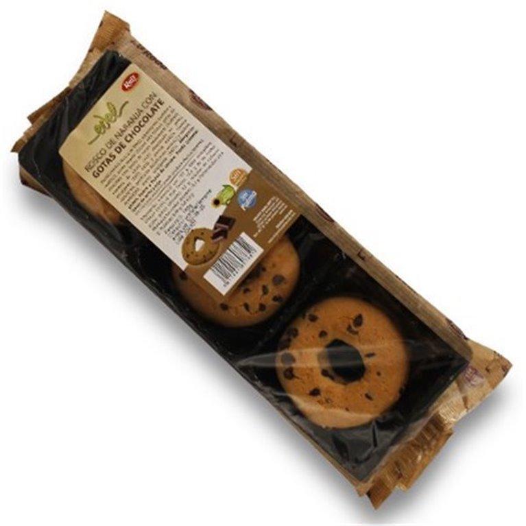 Roscos de naranja con pepitas de chocolate sin azucar 150 gr