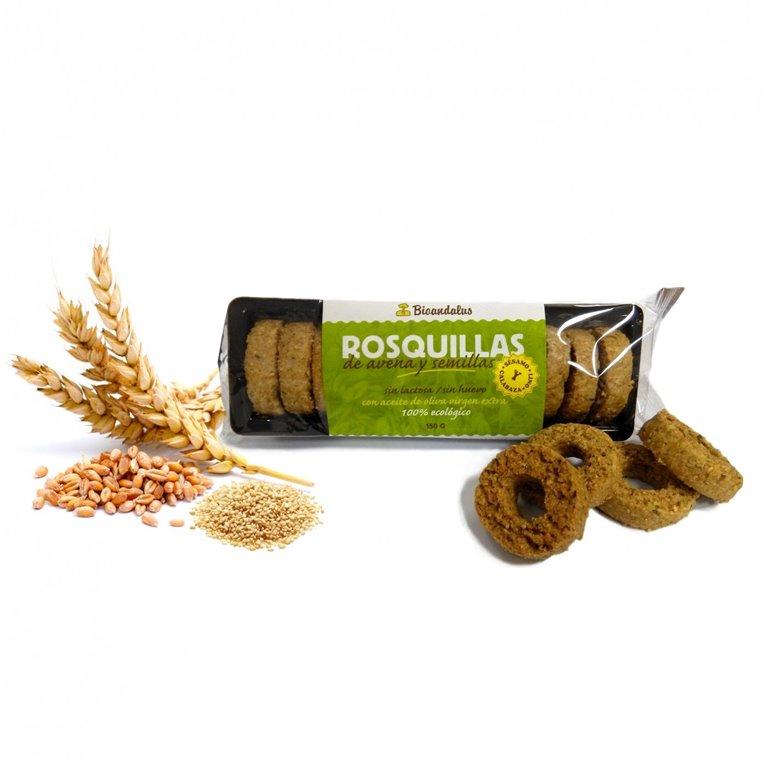 Rosquillas de Avena y Semillas, 150 gr