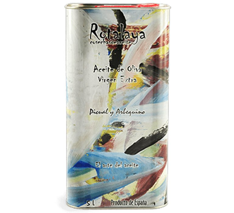 Rotalaya. Picual-Arbequina EVOO. 5 liter can.