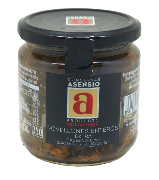 Rovellones Enteros Extra Frasco 300 g