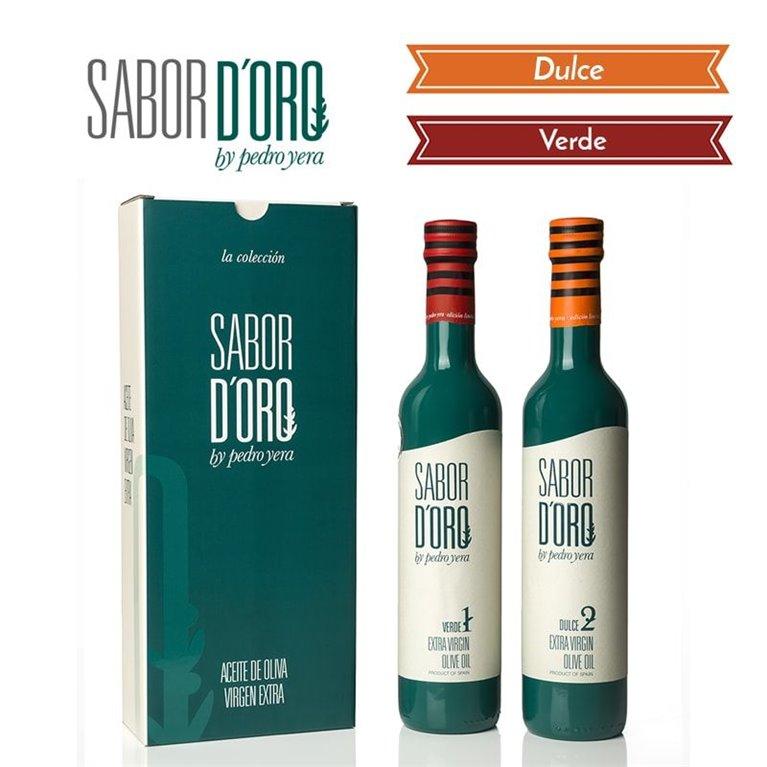 Sabor de Oro. Estuche Regalo Botellas Verde y Dulce. 500 ml, 1 ud