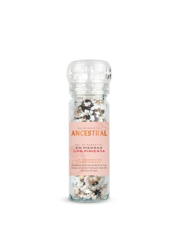 Sal de Manantial en Piedras con Pimienta 90g, 900 gr
