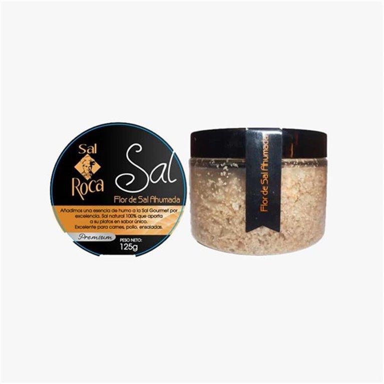 Sal Flor de Sal Ahumada 125 g Sal Roca